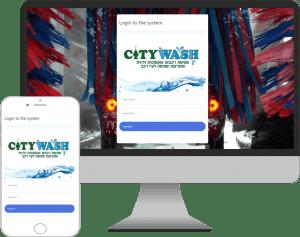 תוכנה אפליקציה עבור חברת סיטי וואש שטיפת רכבים